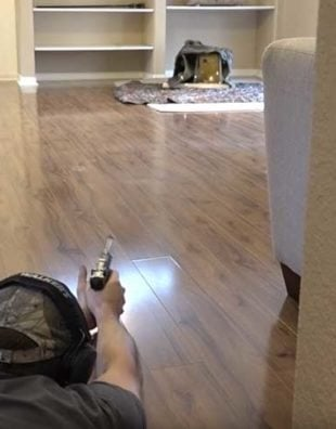 living room gun range