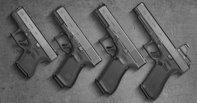 difference between glock pistols size comparison
