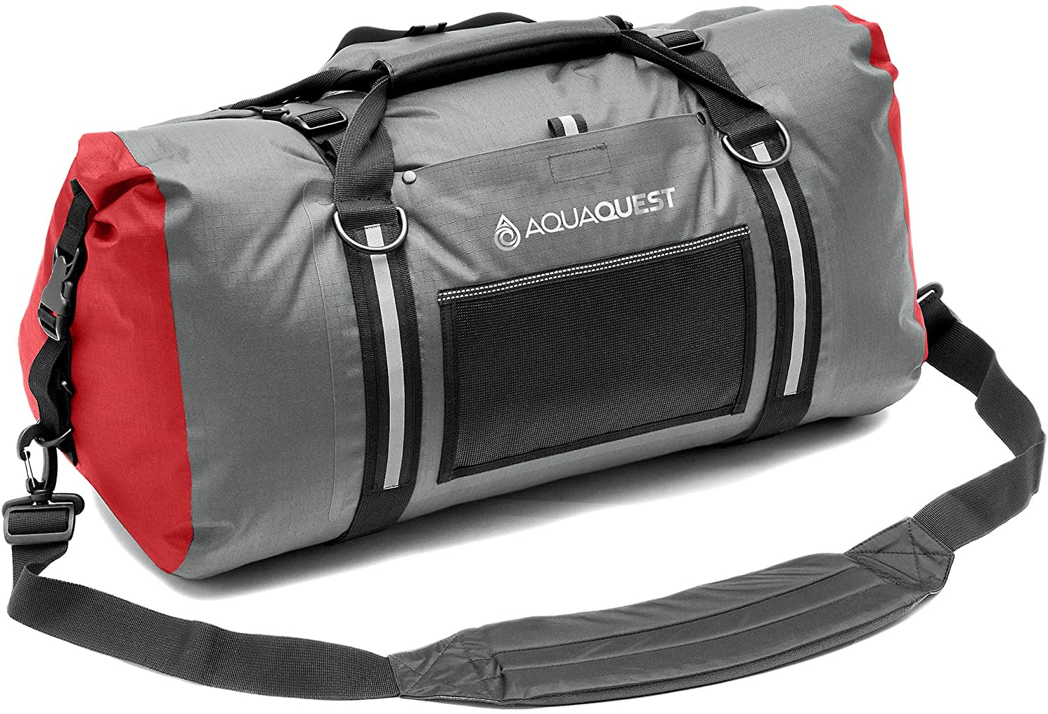 Aqua Quest White Water Duffel - 100% Waterproof, Heavy Duty, Versatile, Comfortable - Durable Protective Dry Bag for Travel, Sport, Motorcycle, Boat, Fishing - 50, 75, or 100 L