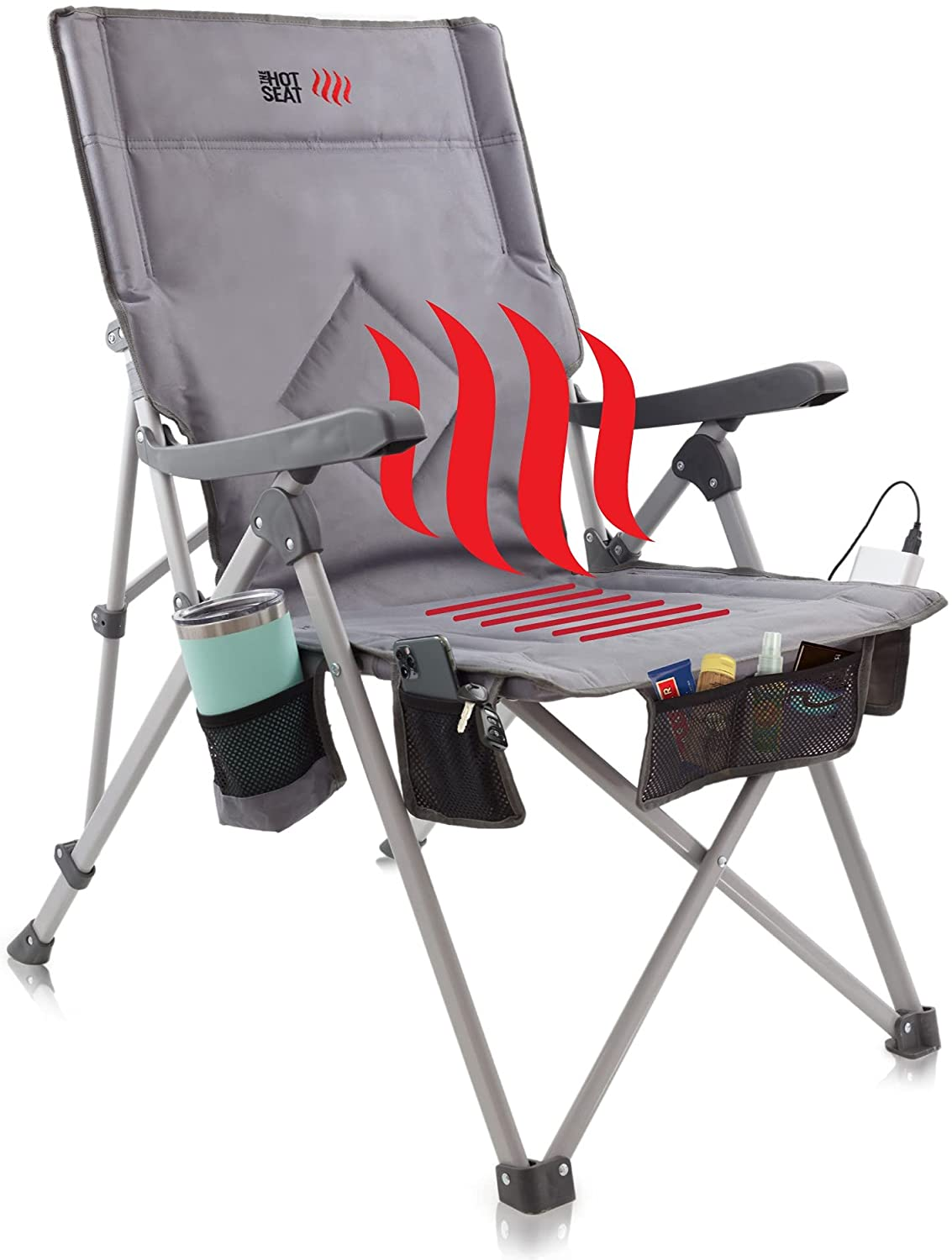 heated camping chair
